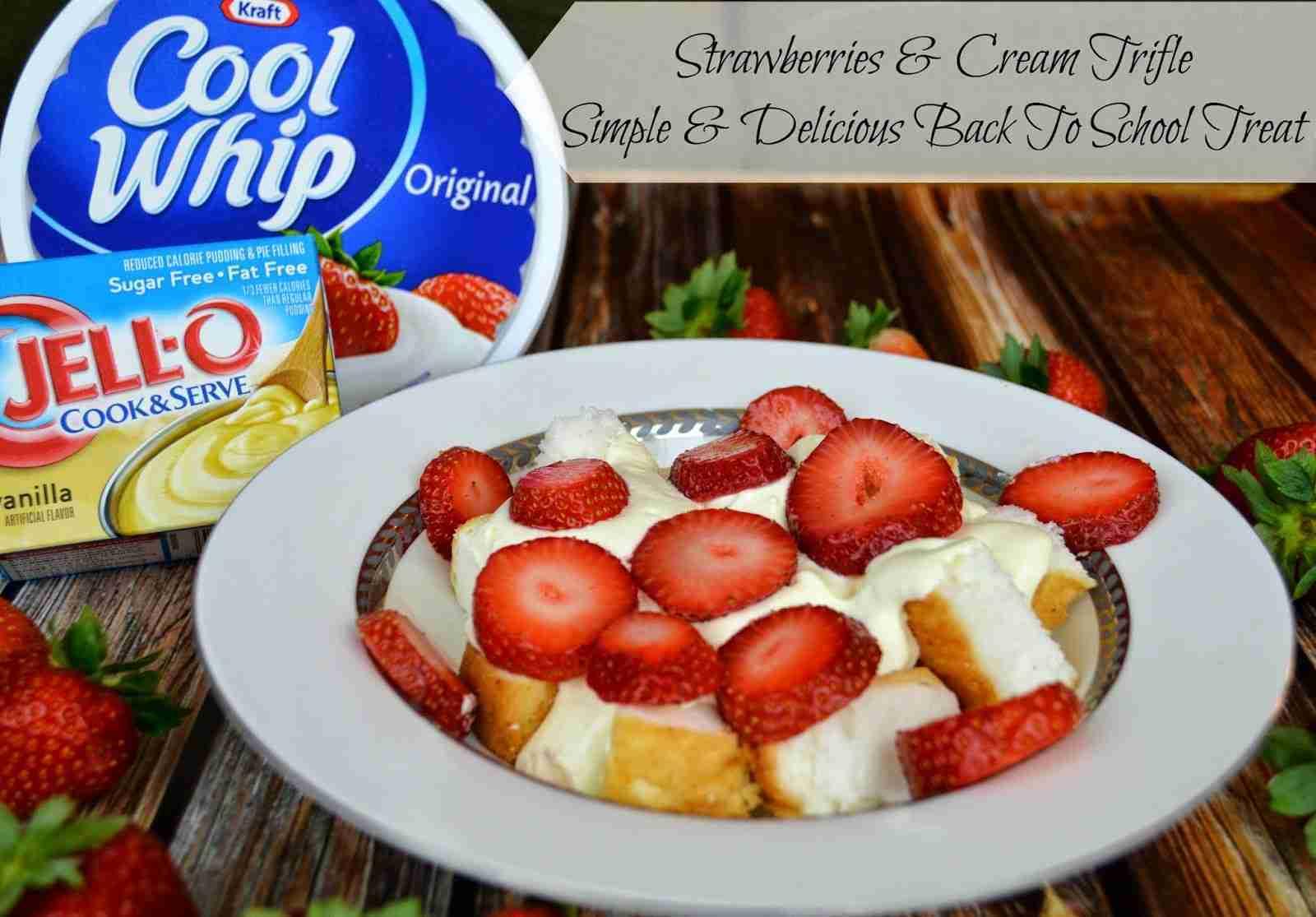 strawberries and cream trifle recipe
