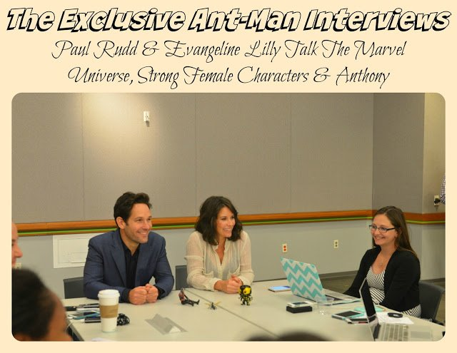 paul rudd and evangeline lily in antman interview
