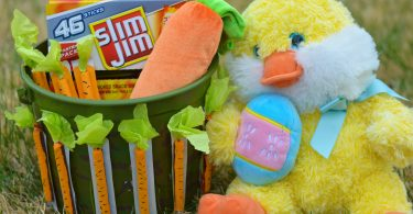 Candy-Free Easter Basket Ideas: Slim Jim Carrot Craft