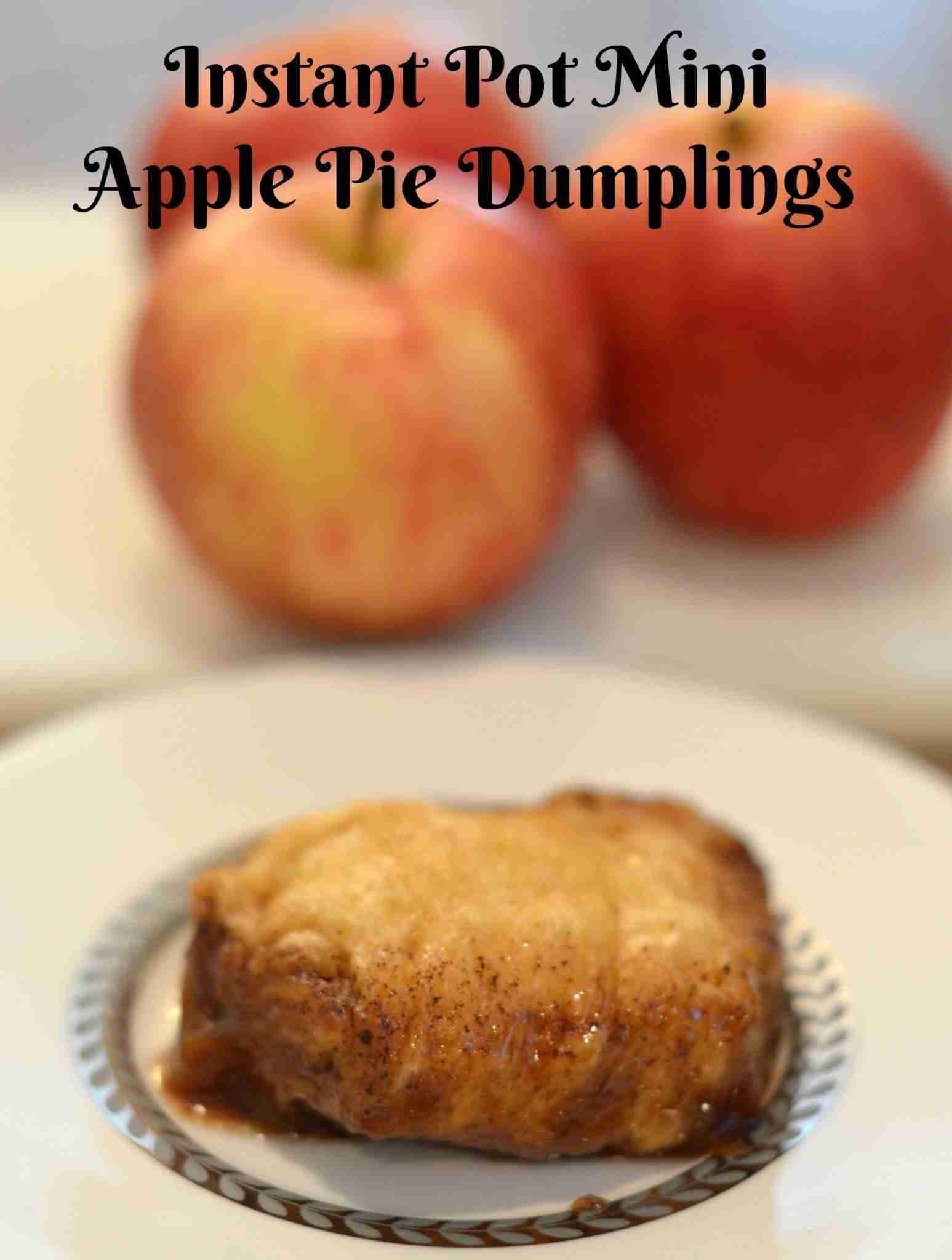 Instant Pot Mini Apple Pie Dumplings Recipe: Pressure Cooker Desserts
