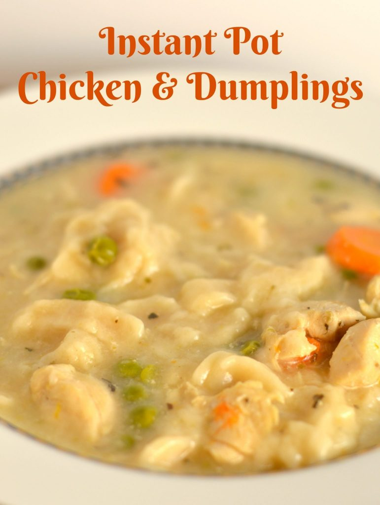 Instant Pot Chicken And Dumplings Recipe