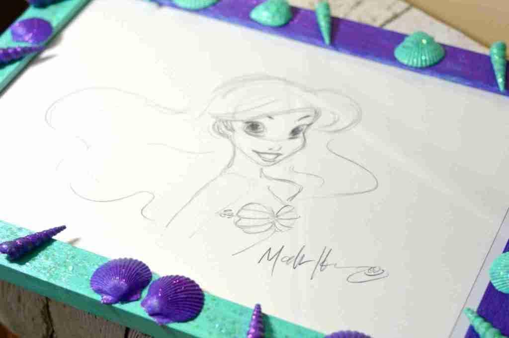 DIY Ariel Seashell Frame: The Little Mermaid Re-Releasing Blu-ray