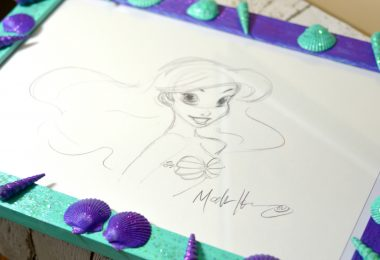DIY Ariel Seashell Frame: The Little Mermaid Re-Releasing Blu-ray