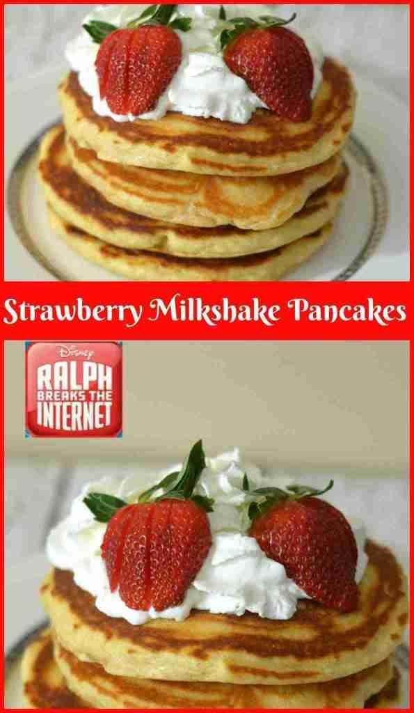 Strawberry Milkshake Pancake Recipe: Ralph Breaks The Internet