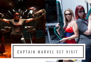 I Visited The Captain Marvel Movie Set!