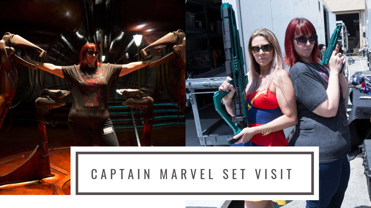 I Visited The Captain Marvel Movie Set!