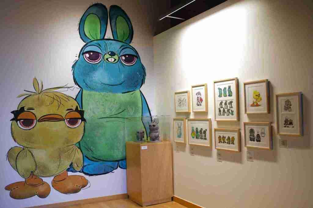 Toy Story 4 art gallery at Pixar studios campus