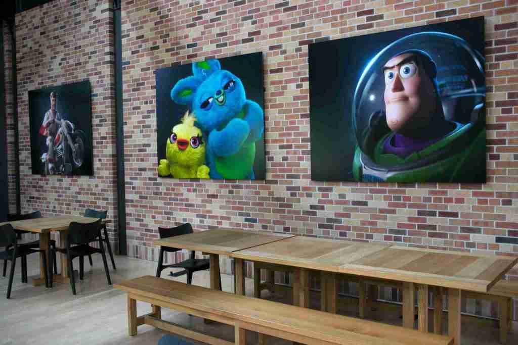Toy Story 4 atrium art pixar studio campus