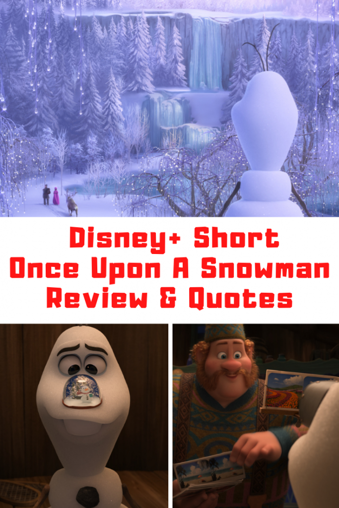 Once Upon A Snowman Quotes