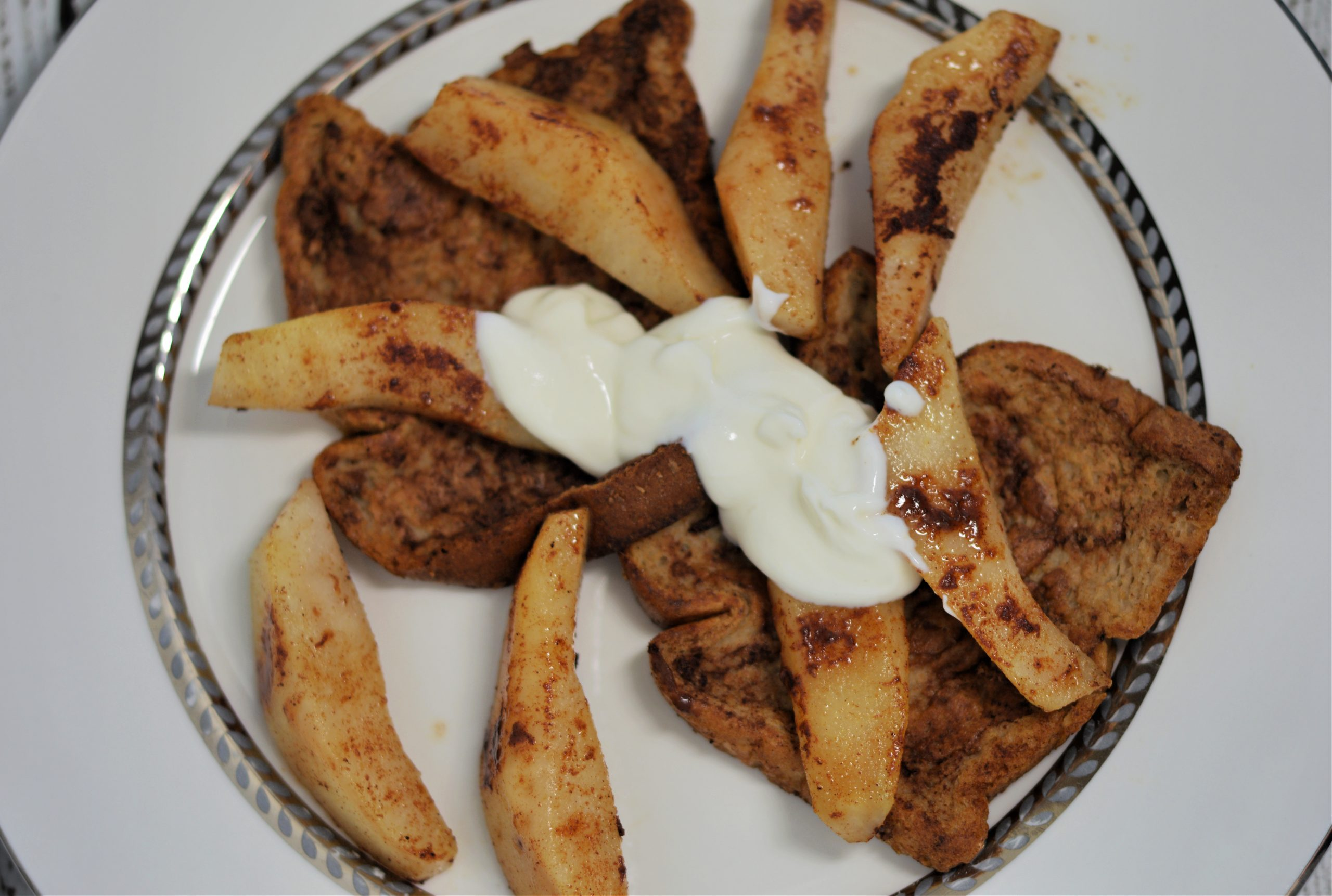 Weight Watchers French Toasted with Sauteed Pears Recipe