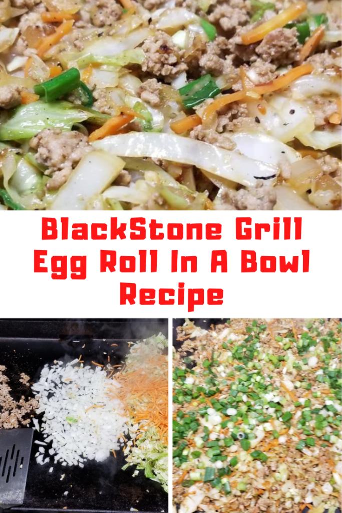 BlackStone Griddle Egg Roll In A Bowl Recipe
