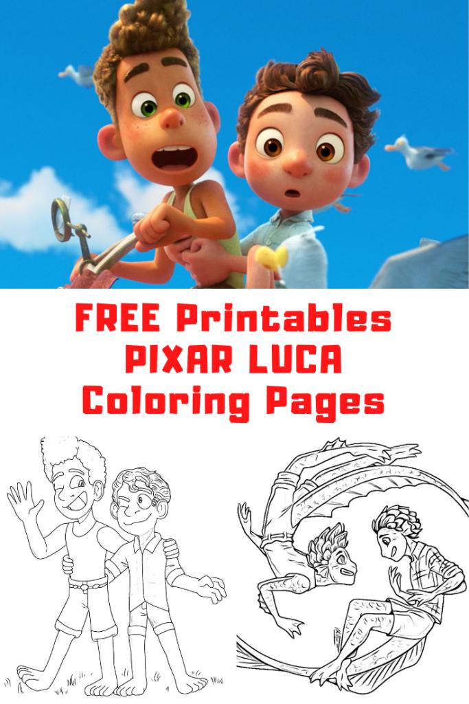 PIXAR LUCA Coloring Pages