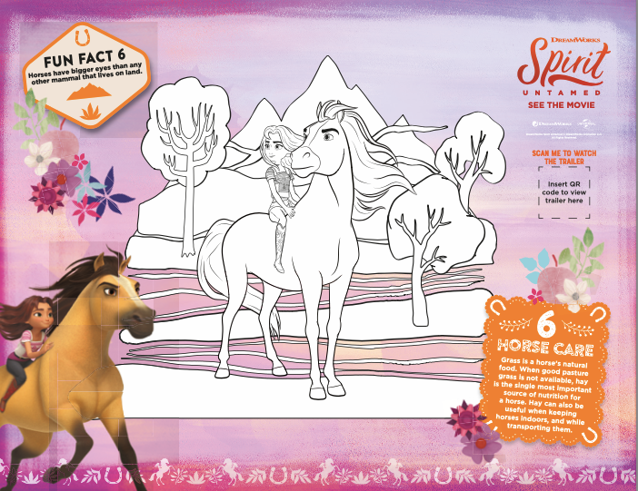 SPIRIT UNTAMED Coloring Pages